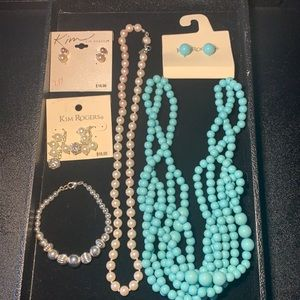 Kim Rogers beads and pearls jewelry lot